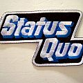 STATUS QUO  shaped patch s81 new  6.5 x 11cm