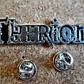 Therion metal shaped pin   badge