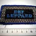 Def Leppard   very rare vintage 1979 patch used463 +_silver print collector's item