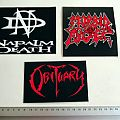 new stickers , napalm death, morbid angel, obituary