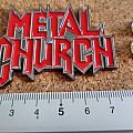 Metal Church  shaped pin/ badge new