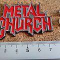 Metal Church  shaped pin/ badge new