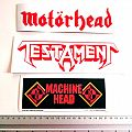new stickers, motorhead,testament , machine head
