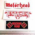 new stickers, motorhead,testament , machine head
