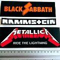 new stickers, black sabbath, rammstein, metallica