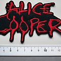 Alice Cooper - Patch - Alice Cooper shaped embleem patch c200