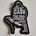 Johnny cash shaped patch c188 new 8 x 11.5 cm