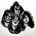 Kiss - Patch - KISS very rare 2007 official. shaped patch 33 silver printed new
