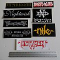 new big stickers, testament,nile, massacre,finntroll, napalm death