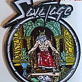 Savatage  shaped speld pin badge   n3
