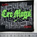 Cro-mags - Patch - CRO-MAGS  1993 patch  c127 alpha omega new