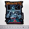 Megadeth vintage sticker shaped 1990 new 8 x 9.5 cm no 74 Other Collectable