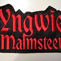 YNGWIE MALMSTEEN shaped patch m90  12X7.5 cm  new