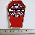 Slayer Jeff Hanneman coffin embleem patch 94  silver border