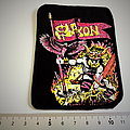 Saxon  very very rare  vintage 80's patch 44  new from the archive