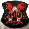 PANTERA  shaped patch p115  new  11.5 x 11.5 cm hell patrol