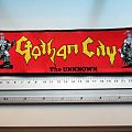 GOTHAM CITY very big strip patch g110 (swedish metal) 7x24cm