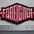 Foreigner shaped  patch f52  new  6 x 13 cm