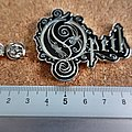 Opeth shaped pin/ badge new n1