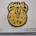 Sabbat shaped patch s267 nieuw  9.5 x 12 cm bd