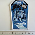 Morbid - Patch - Morbid small coffin patch white border with silver print new
