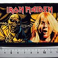 Iron Maiden vintage 80's patch 250 glossy photo print very rare