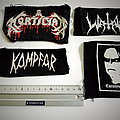 used patches watain ,mortician, euronymous, kampfar
