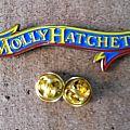 Molly Hatchet shaped pin badge new