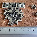 Agnostic Front shaped pin badge