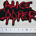 Alice Cooper shaped patch c200 new