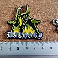 Bathory shaped pin badge