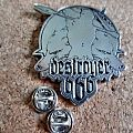 Destroyer 666   metal shaped pin badge