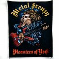 METAL FRENZY new vintage monsters of rock back patch bp137