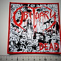 Obituary dead   ltd. edition patch o102 red border