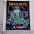 Megadeth - Patch - MEGADETH  HOLY WARS no 49 vintage patch 1990 brandnew  9 x 12,5 cm