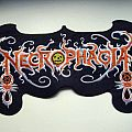 NECROPHAGIA very rare back patch patch 14X25 cm nieuw  BP74
