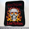 ride to live live to ride skull patch var400 new rock biker