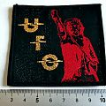 UFO vintage 80's patch u35 new gold print