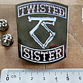 Twisted Sister  shaped pin badge n3