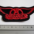 aerosmith shaped logo patch a250 new 5 x 13 cm