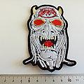 Slayer shaped patch 127 --  7 x 12 cm