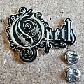 Opeth shaped pin/ badge new