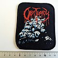 Obituary vintage 1991 patch  pile of skulls o104   very rare  with round corners