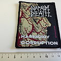 Napalm Death very rare vintage 1991 patch n133 harmony corruption official