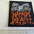 Napalm Death very rare vintage 1991 patch n191  official from enslavement to obliteration