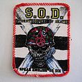 S.O.D.  1988 vintage PATCH  S8 VERY RARE new 8X10 CM