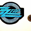 ZZ TOP    new woven shaped patch z15  10 x 8.5 cm