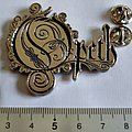 Opeth shaped pin/ badge new n2