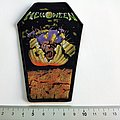 Helloween coffin patch h168   new 8 x 13 cm