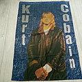 nirvana kurt cobain super size  110 x 140 cm poster flag no 9170
